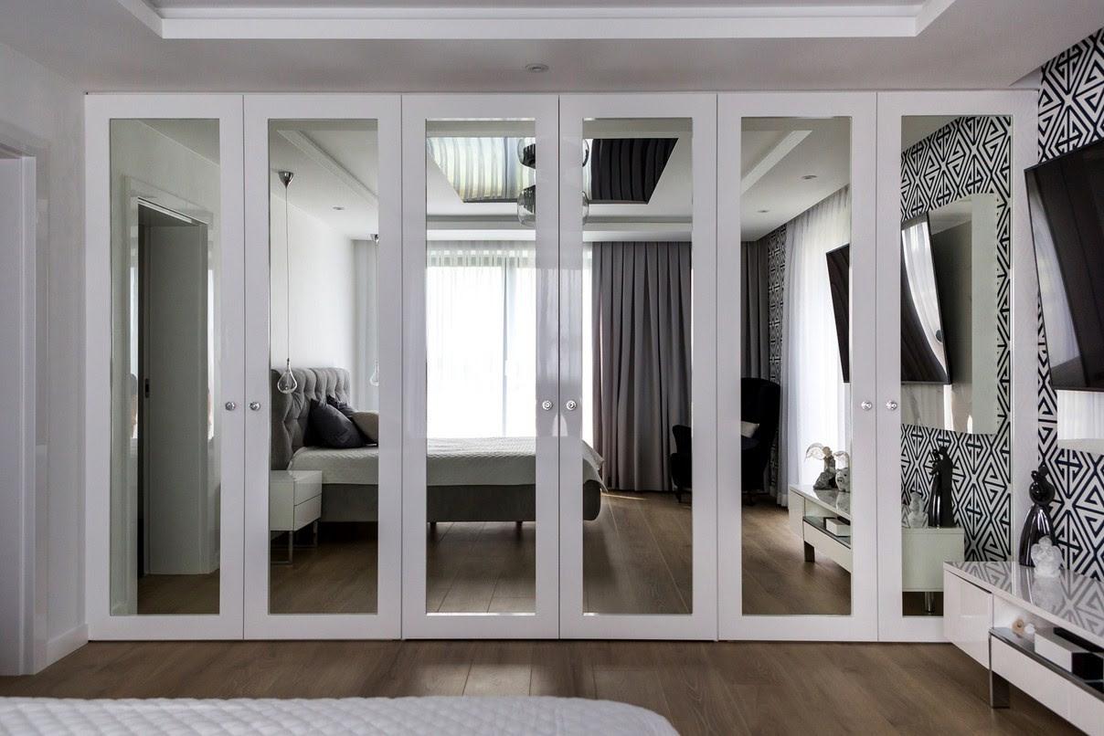 High Gloss Kitchens - Aluminum Glass Cabinet Doors