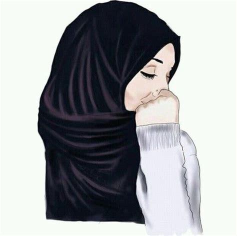 gambar hijab drawing  art muslim hijab drawing