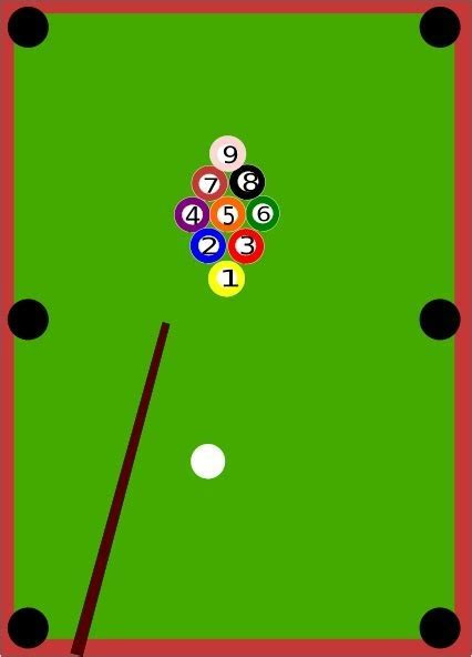 Pool Table clip art Free vector in Open office drawing svg