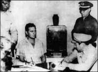 Fidel Castro detenido después de la acción del Moncada
