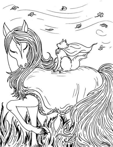 printable fantasy coloring pages  kids