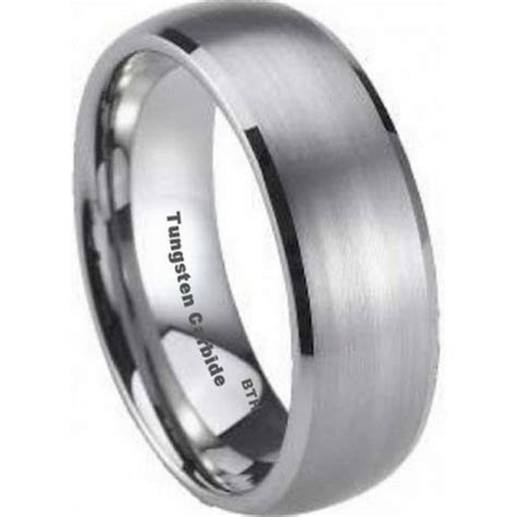 mens tungsten carbide wedding engagement band ring mm