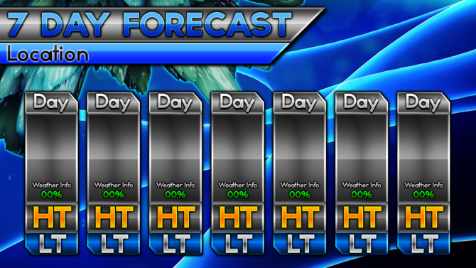 7-day Forecast Blank Template Related Keywords & Suggestions - 7 ...