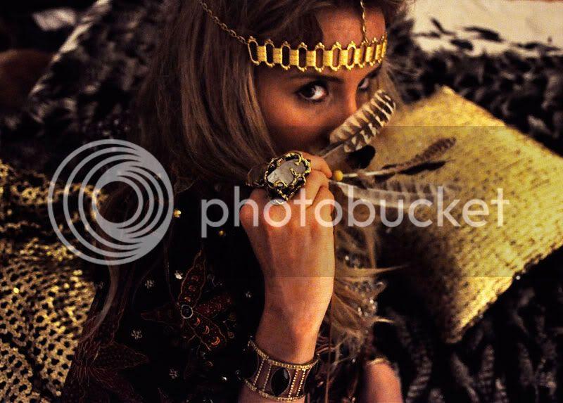gypsy,boho,fur,gold,feathers