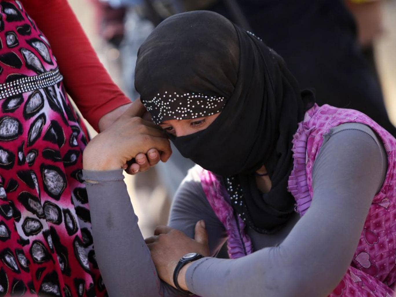 The Organisation of Women's Freedom in Iraq (OWFI) believes that thousands of Yazidi woman have already been sold into enslavement (AFP)