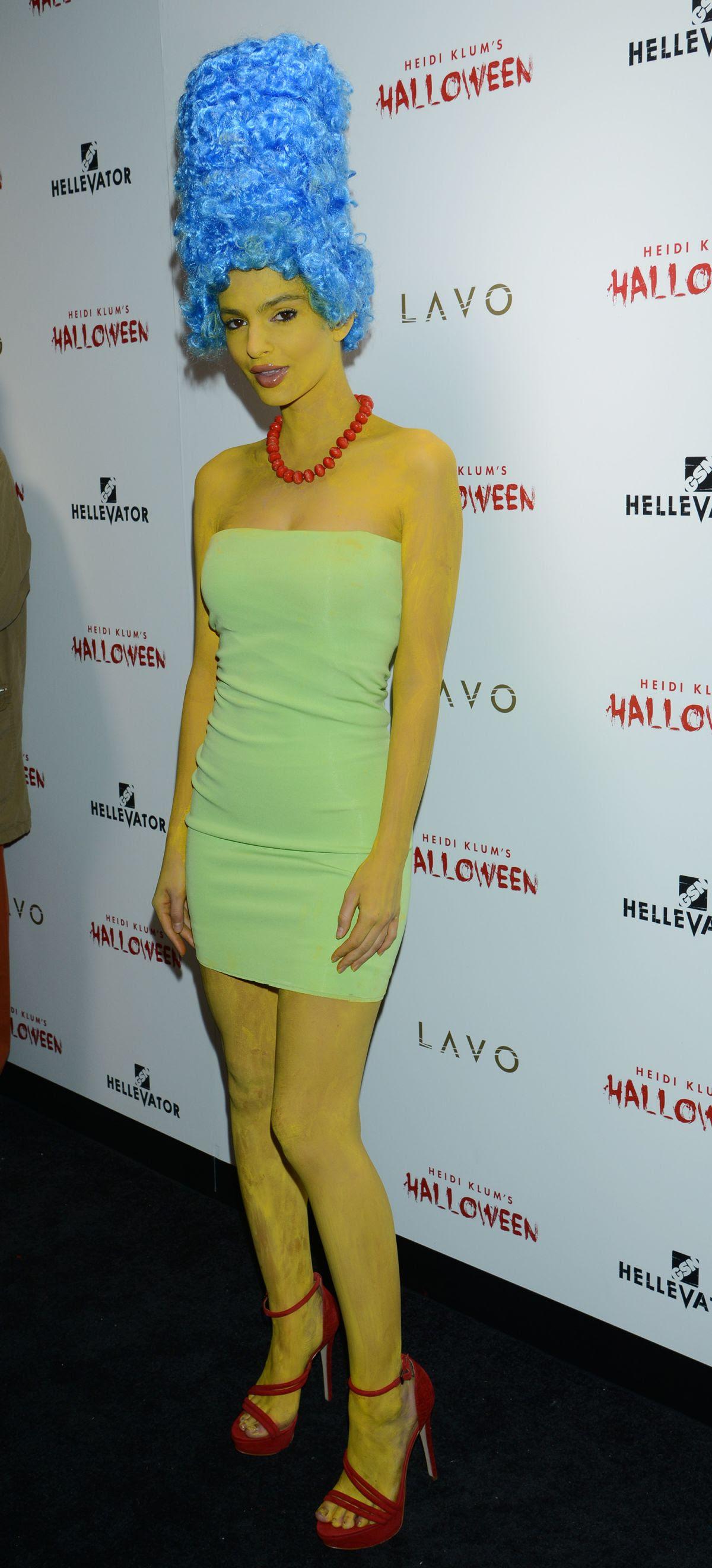 EMILY RATAJKOWSKI at Heidi Klum Halloween Party in New York 10/31/2015