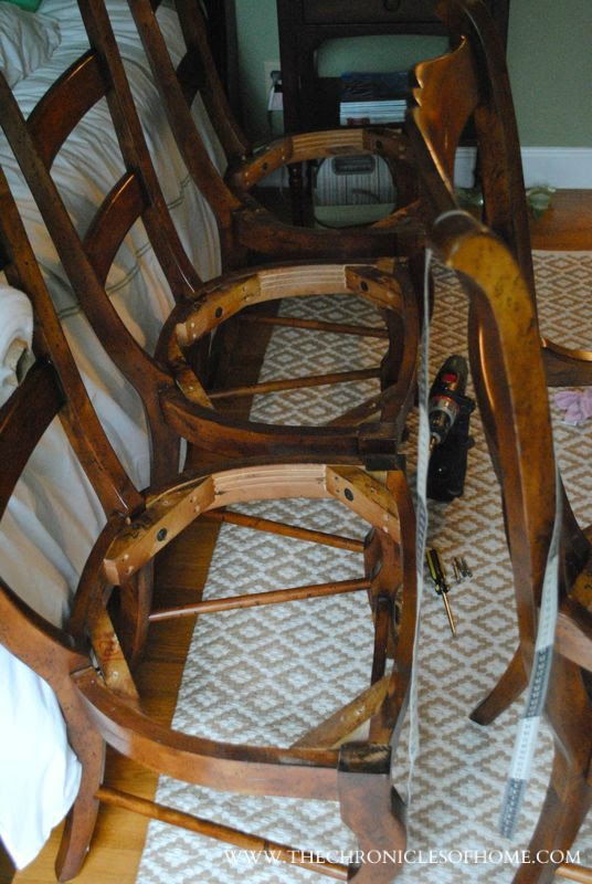 Tutorial How To Recover Dining Room Chairs - The ...
