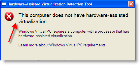 Enable Virtualization Technology (VT)