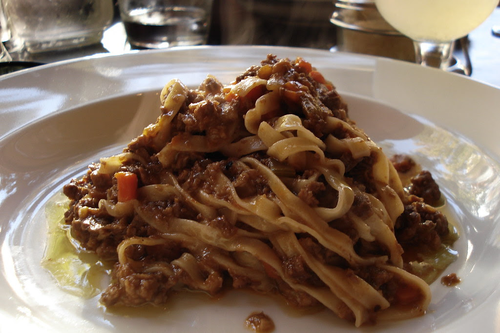 pasta with braised beef and pork
