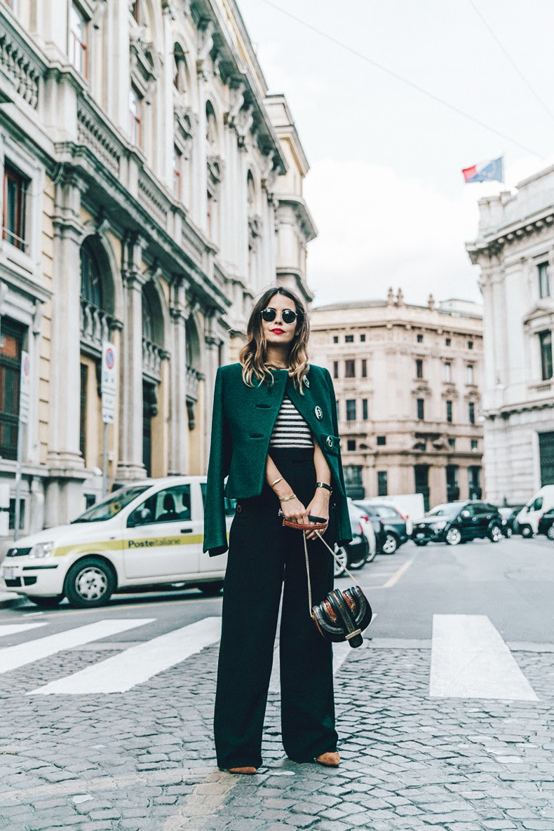 Salvatore_Ferragamo-Striped_Top-GReen_Jacket-MFW-Milan_Fashion_Week-Outfit-Street_Style-Collage_Vintage-19