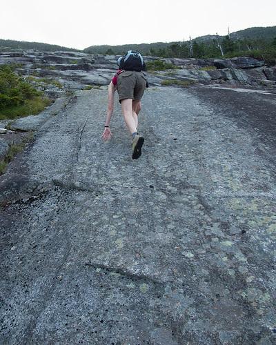 Climbing the slabs - Whiteface Ski Slide #1