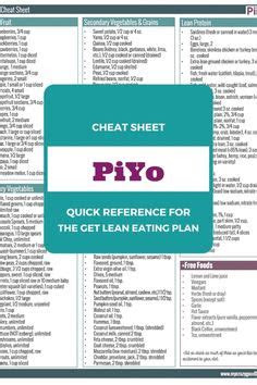 review piyo meal plan diet  weight loss
