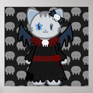 Bat Cat Poster print