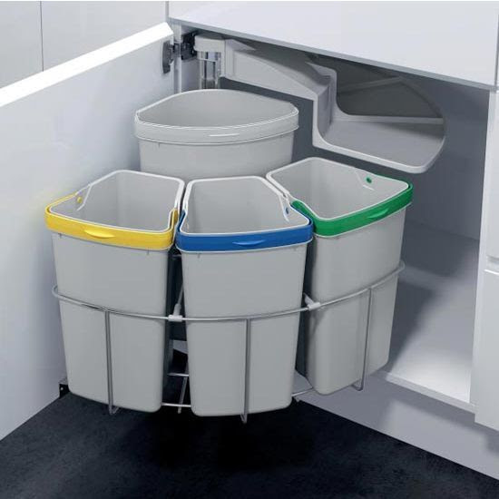 Organized recycling station for your kitchen.