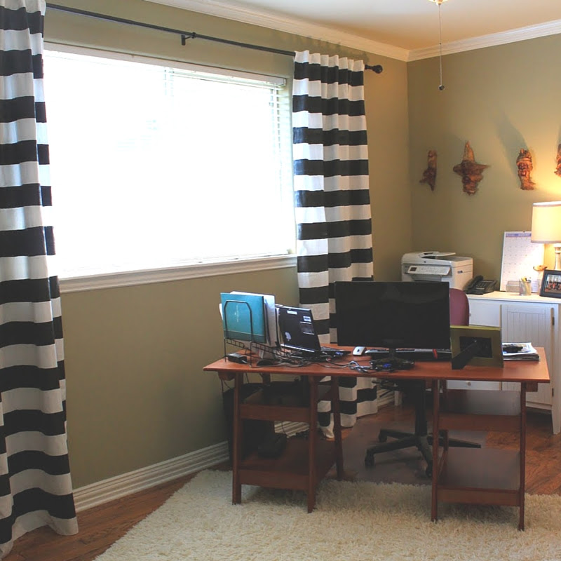 No-Sew Painted Curtains