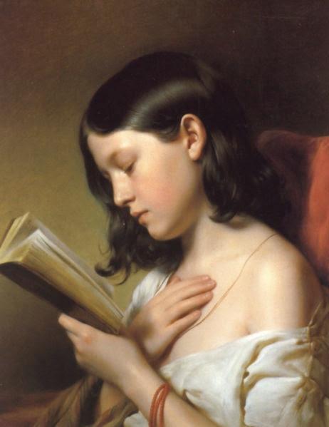 Franz Eybl, Girl Reading, 1850