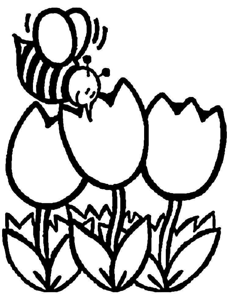 Dibujos Animados Para Colorear Flores Para Niños Pequeños