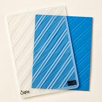 Stylish Stripes Textured Impressions Embossing Folder
