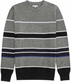 Reiss Skills Stripe Crew -neck Jumper Charcoal