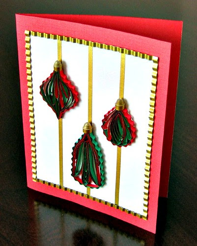Quilled Ornaments Card