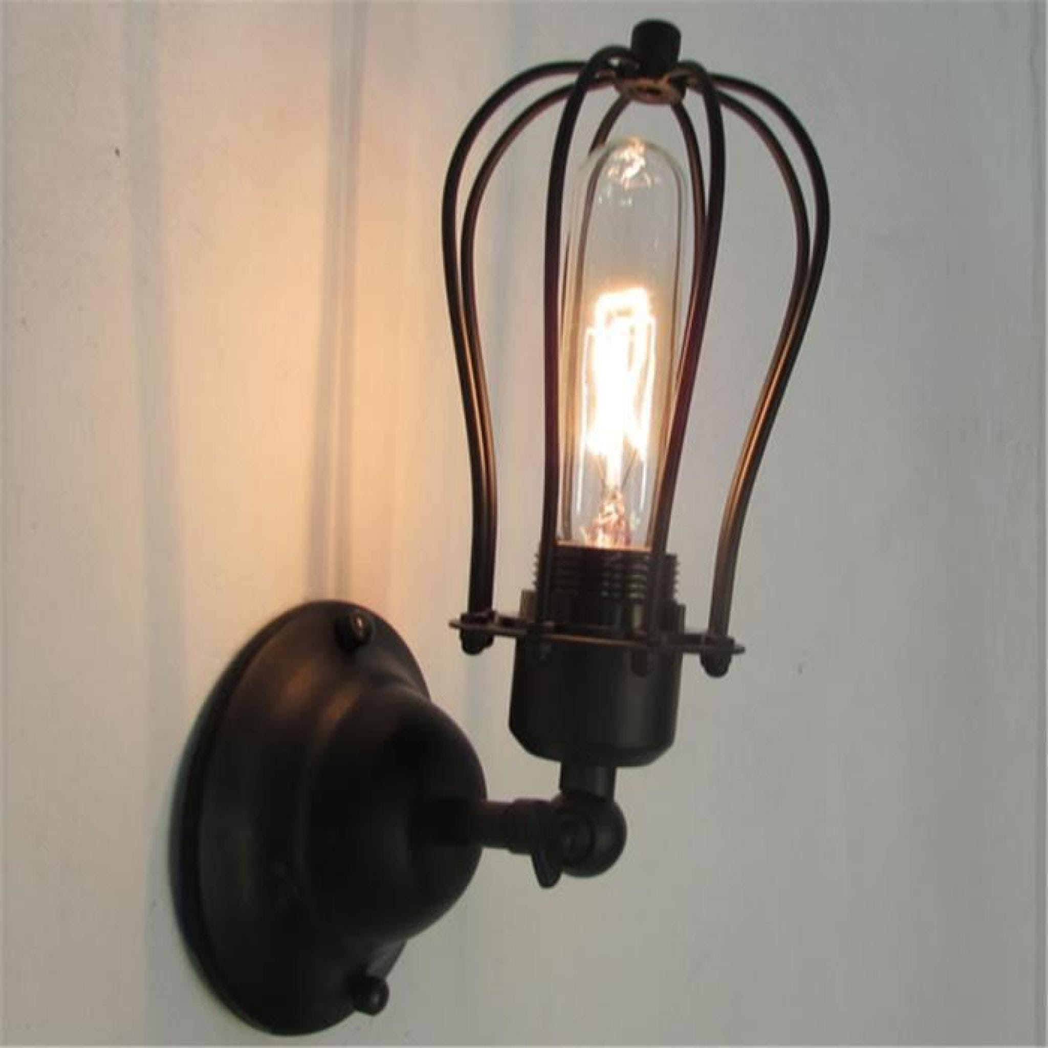 Ferandhome Antique Applique Murale Feu Lampe De Mur Luminaire Edison