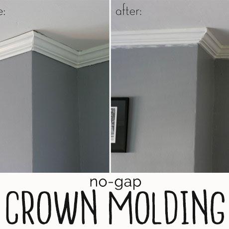 seamless crown molding with caulk