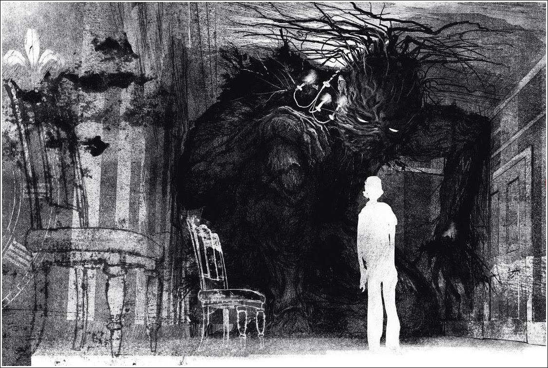 Bildergebnis für a monster calls illustrations