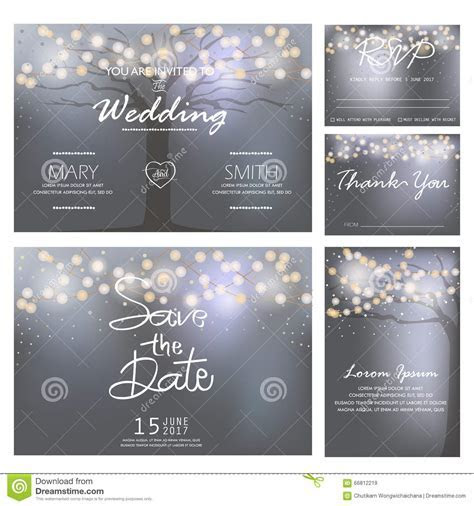 Wedding Invitation Card Template, Vector Stock Vector