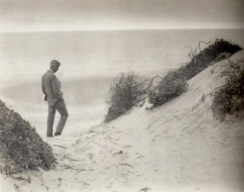 Margrethe Mather & Edward Weston - Max Eastman at Water's Edge (1921)