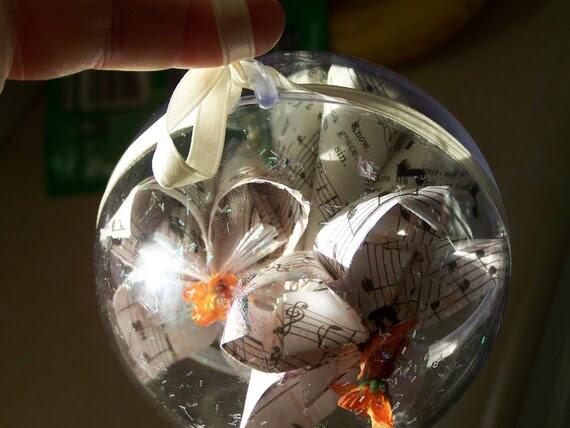 Sheet Music Origami Ornament