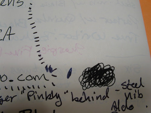 """Show-through on the paper of a Rhodia web notebook (""""webbie"""")"""