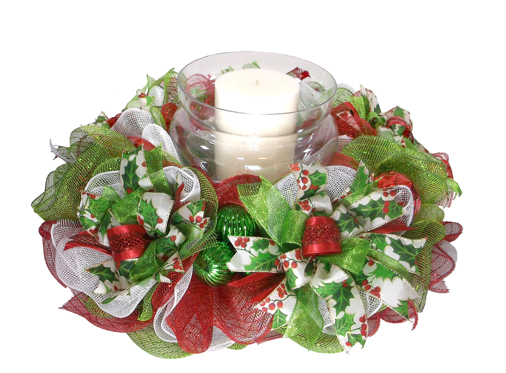 Traditional Christmas Candle Ring - On the Wall Charm