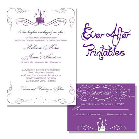 wedding invitation : printable wedding invitation