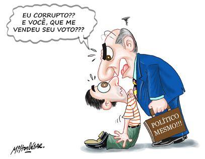 Image result for Eleitor e candidato corrupto