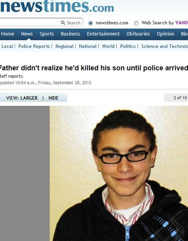 Tyler Giuliano, 15, foi morto pelo pai  (Foto: Reprodução)