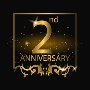 2nd Anniversary PNG Images   Vectors and PSD Files   Free