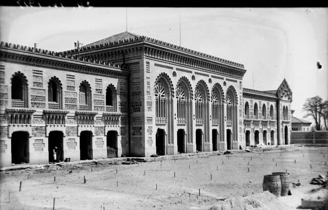 Estación de Ferrocarril de Toledo el 24 de abril de 1917  © Archivo Histórico Ferroviario del Museo del Ferrocarril de Madrid. Fotografía de F. Salgado. Signatura 0486-IF MZA 0-10