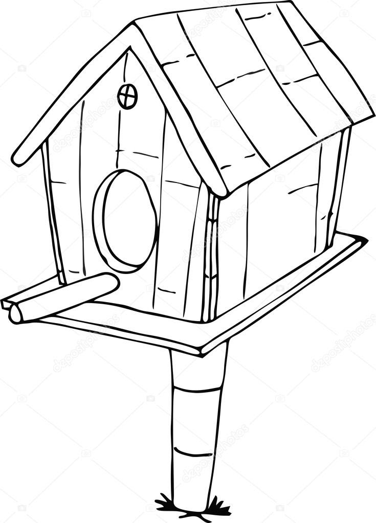 Birdhouse Drawing At Getdrawingscom Free For Personal Use