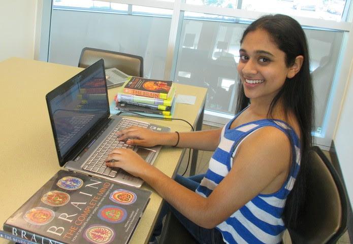 """""""Sou fascinada pela ciência desde muito jovem, especialmente pelo funcionamento interno do cérebro"""", afirma Trisha Prabhu (Foto: Arquivo pessoal/Trisha Prabhu)"""