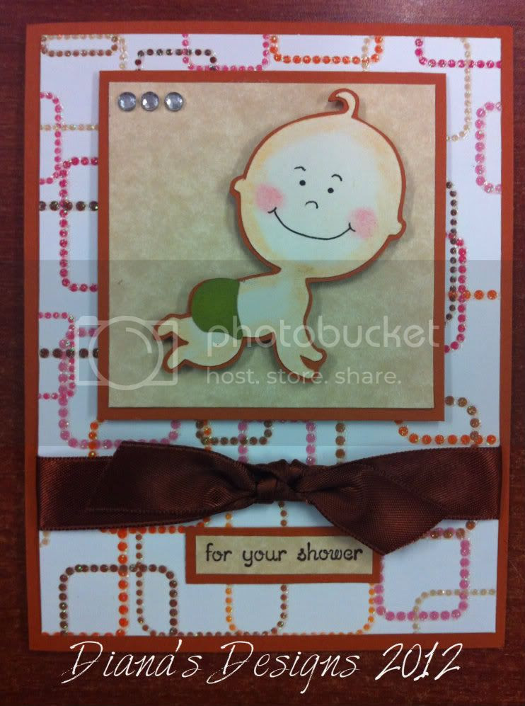 Baby Shower Card - Cricut New Arrival, Uploaded from the Photobucket iPhone App