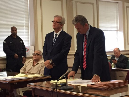 Martin Taccetta, seated, in Superior Court, Morristown,