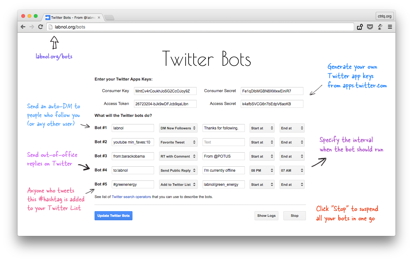How To Write Your Own Twitter Bots Without Code