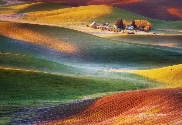 """Frosty Morning Palouse""    Early spring sunrise in the Palouse Hills of Washington State."