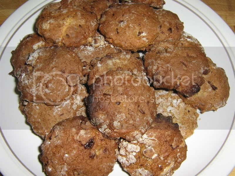 Ginger and Choc Chip cookies