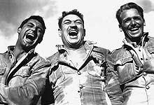 Cutter (Grant), MacChesney (McLaglen) and Ballantine (Fairbanks, Jr.)