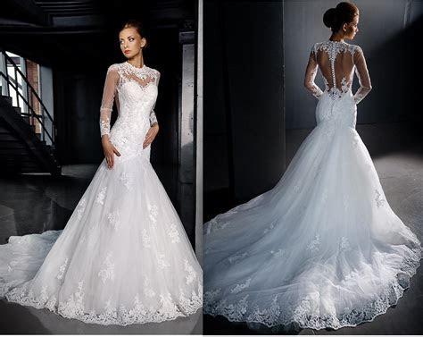 Long Sleeves Lace Wedding Dresses 2016 Mermaid Sexy
