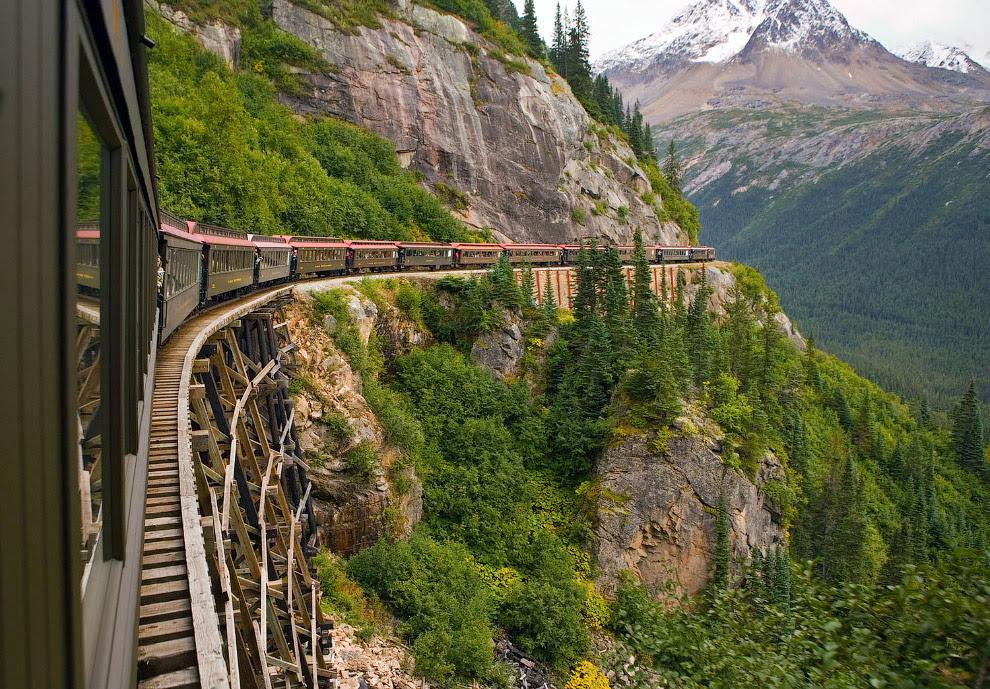 Scenic залізниці - Skagway, Аляска