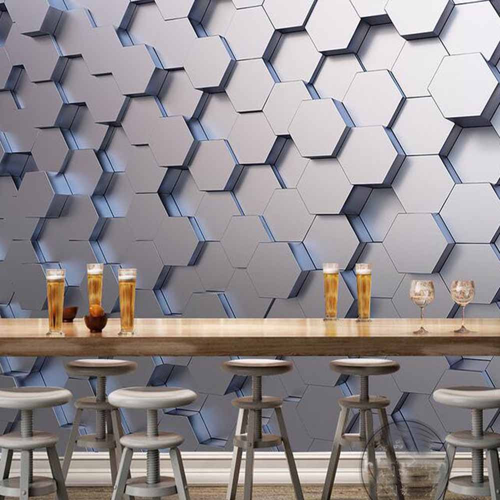 Geometric Wallpaper Murals Photo Wall Paper Sticker For