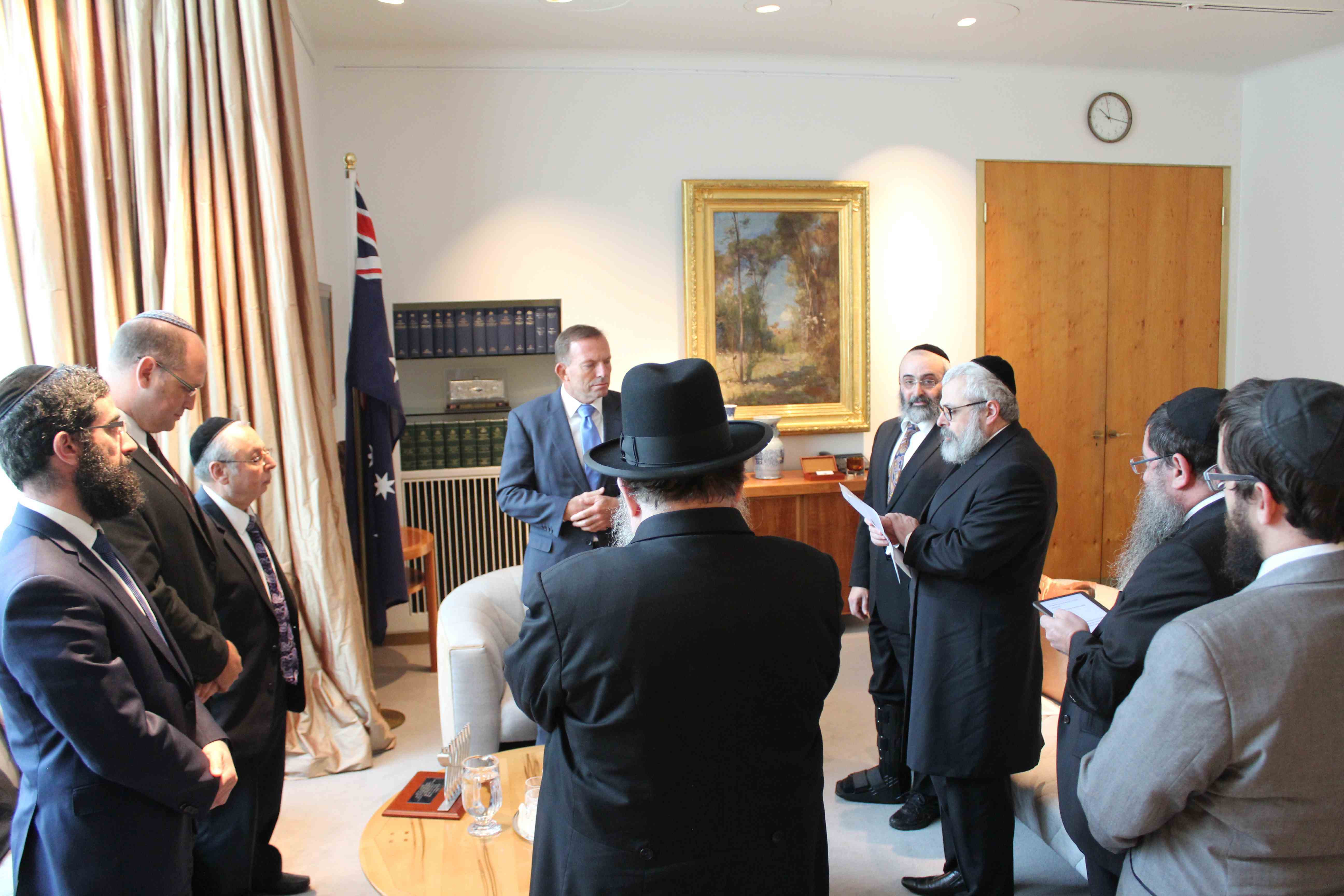 Rabbis Praying with PM copy.jpg
