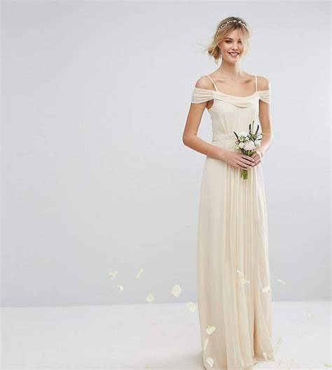 Tfnc Tall Wedding Cold Shoulder Embellished Maxi Dress